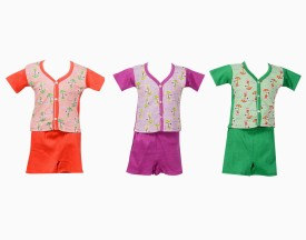Tiny Toon Baby Boy's Printed Top & Shorts Set