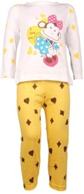 Jazzup Baby Girl's Printed Top & Pyjama Set