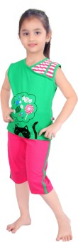 Punkster Baby Girl's Graphic Print Top & Capri Set - NSTE645QYSCGKHRY