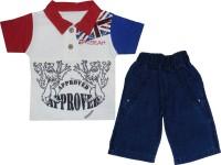 Mini Taurus Baby Boy's Animal Print Red Top & Pyjama Set
