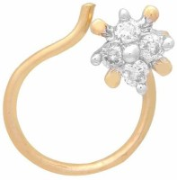 Nakshatra Designer Diamond 18K Yellow Gold Plated Gold Nose Stud - NRSEBGPFGZA4EAJG