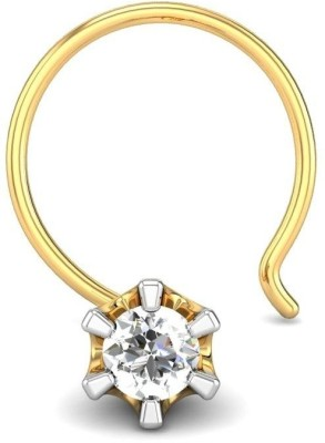 Candere 0.03ct Solitaire Diamond Nose Pin Yellow Gold Nose Stud available at Flipkart for Rs.1796