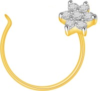 Ciemme 0.07 CT. Flower Shape Diamond Yellow Gold Nose Stud