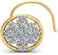 Mannat Jewels Amazing Diamond 18K Yellow Gold Plated Gold Nose Stud
