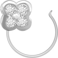 Ciemme 0.18 CT. Floral Shape Diamond White Gold Nose Ring
