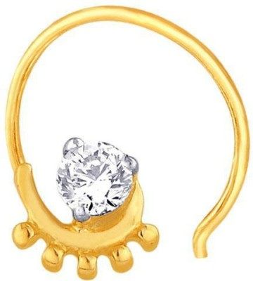 Nakshatra Designer Diamond 18K Yellow Gold Plated Gold Nose Stud - NRSEBGPFZY2GGRFC