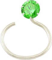 The Jewelry Place Green 925 Sterling Silver Nose Stud