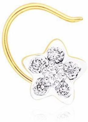 Nakshatra Designer Diamond 18K Yellow Gold Plated Gold Nose Stud - NRSEBGPFEXN5GPYB