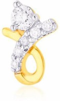 Nakshatra Designer Diamond 18K Yellow Gold Plated Gold Nose Stud - NRSEBGPFFPSMY8ZT