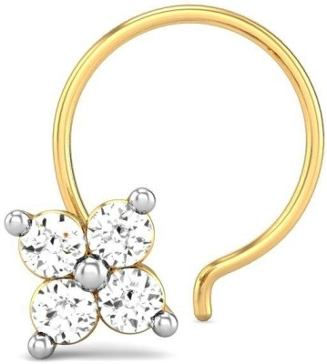Candere 0.06ct Suditi Diamond Nose Pin Yellow Gold Nose Stud