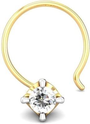 Candere 0.03ct Diamond Four Prong Nose Pin Yellow Gold Nose Stud available at Flipkart for Rs.1669