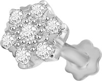 Vijisan 0.34 Ct. Fashion Cluster Cubic Zirconia 18K White Gold Plated Sterling Silver Nose Stud