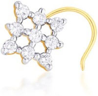 Nakshatra Designer Diamond 18K Yellow Gold Plated Gold Nose Stud - NRSEBMQ9A7T5ZZCM