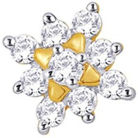 Nakshatra Designer Diamond 18K Yellow Gold Plated Gold Nose Stud - NRSEBMQ9MBZRNZHY