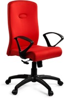 Debono Debono Comfy 271V High Back Revolving Chair With Syncro Tilt Mechanism In Red Fabric Fabric Office Chair (Brand - Red)