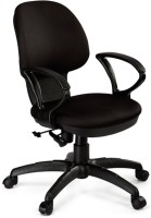 Debono Debono Global 951V Medium Back Revolving Chair With Push Back Mechanism In Black Fabric Fabric Office Chair (Brand - Black)