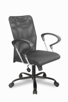 R.B.Furniture Plastic Office Chair (Brand - Black, Set Of 4)