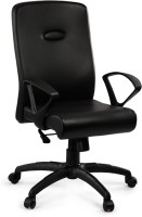 Debono Comfy 271V High Back Revolving Chair With Syncro Tilt Mechanism In Black Leatherite Leatherette Office Chair (Brand - Black)