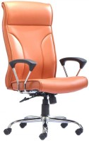 HOF Marco Leatherette Office Chair (Brand Color - Orange)