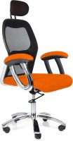 Home City Fabric Office Chair (Brand Color - Orange)