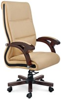 WOODSTOCK INDIA Leatherette Office Chair (Brand - Beige, Brown)