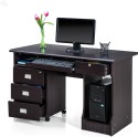 Royal Oak Engineered Wood Office Table (Free Standing, Finish Color - Dark)