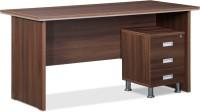 Debono Engineered Wood Office Table (Free Standing, Finish Color - Acacia Dark)