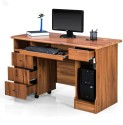 Royal Oak Engineered Wood Office Table (Free Standing, Finish Color - Natural)