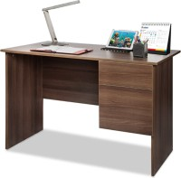 Debono Award Study Table With One Drawer & One Shutter Engineered Wood Study Table (Free Standing, Finish Color - Acacia Dark Matt Finish)