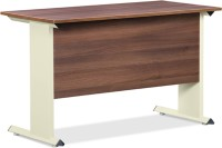 Debono Trendy Table In Acacia Dark And Cream Matt Powder Coated Steel Leg By Debono Engineered Wood Office Table (Free Standing, Finish Color - Acacia Dark & Cream Matt)