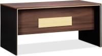 Debono Engineered Wood Office Table (Free Standing, Finish Color - Acacia Dark & Black)