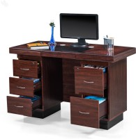 Royal Oak Engineered Wood Office Table (Free Standing, Finish Color - Honey Brown) - OSTEAZDJ4YEVQXRG