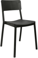 Cello Furniture Plastic Cafeteria Chair (Finish Color - Black)