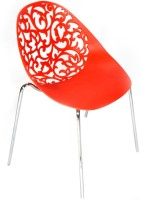Ventura Plastic Cafeteria Chair (Finish Color - Red)