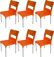 Supreme Plastic Outdoor Chair (Finish Color - Orange::Light Orange)