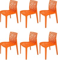 Supreme Plastic Outdoor Chair (Finish Color - Orange)