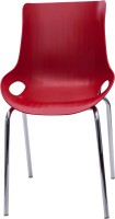 Ergoline Fabric Cafeteria Chair (Finish Color - Red)