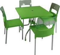 Supreme Green::Light Green Plastic Table & Chair Set (Finish Color - Green::Light Green)