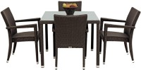 Studio F Brown Synthetic Fiber Table & Chair Set (Finish Color - Brown) - OTSEB793YSNCU2B4