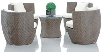 Studio F Brown Synthetic Fiber Table & Chair Set (Finish Color - Brown) - OTSEG2G94XGGG7HU