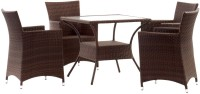 Studio F Brown Synthetic Fiber Table & Chair Set (Finish Color - Brown) - OTSEB793Z6SWHA9Y