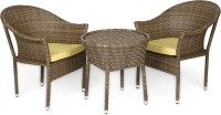 Svelte Brown Metal Table & Chair Set (Finish Color - Brown) - OTSEGHS9BGAPYCAN