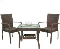 RoyalOak Honey Brown Metal Table & Chair Set (Finish Color - Honey Brown)