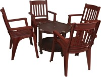 Supreme Globus Brown Plastic Table & Chair Set (Finish Color - Globus Brown) - OTSEDUSAR6FAHSWQ