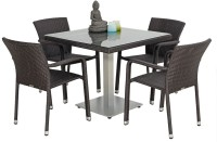 Studio F Brown Synthetic Fiber Table & Chair Set (Finish Color - Brown)