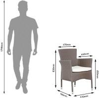 Studio F Brown Synthetic Fiber Table & Chair Set (Finish Color - Brown) - OTSEG2G9NJZETXCS