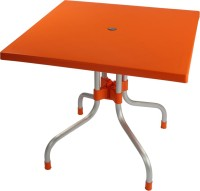 Supreme Plastic Outdoor Table (Finish Color - Orange)