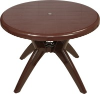 Supreme Plastic Outdoor Table (Finish Color - Globus Brown)