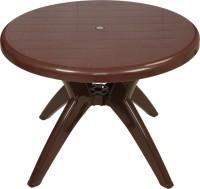 Supreme Plastic Outdoor Table (Finish Color - Globus Brown)