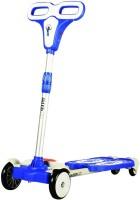 Taaza Garam 4 Wheel Zip Flick Style Double Board Self Propelled Kids Foot Scooter (Blue)